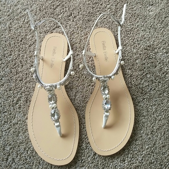 9b6eddb5e72e8 Bella Belle Hera Ivory Pearl Wedding Sandals